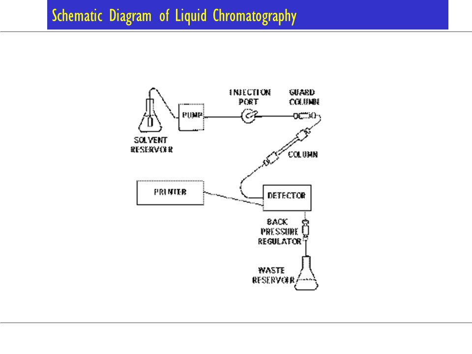 Schematic Diagram of Liquid Chromatography