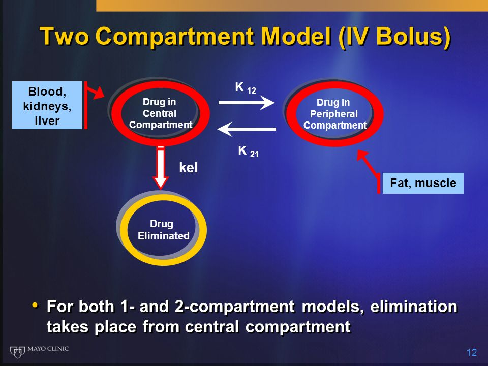 Two Compartment Model (IV Bolus)