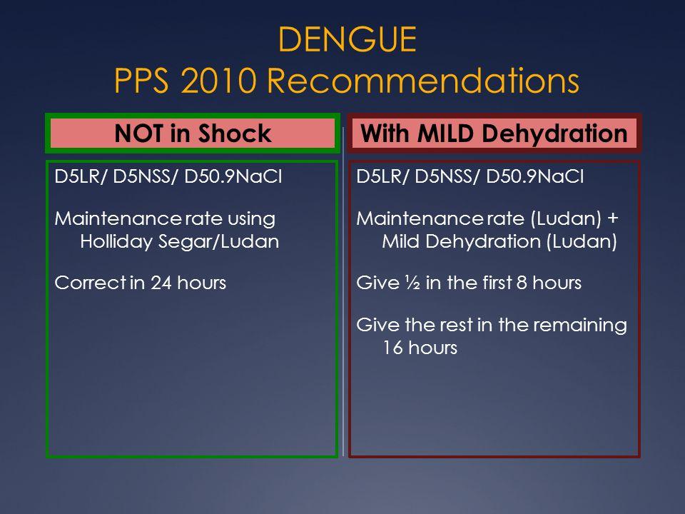 DENGUE PPS 2010 Recommendations