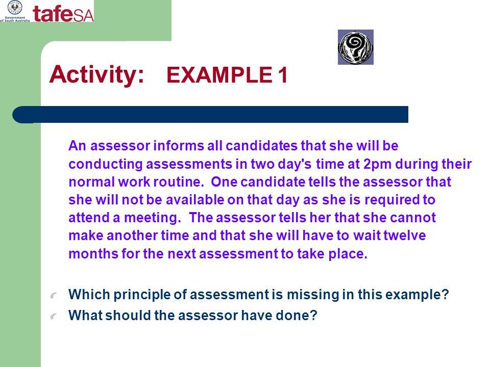 Activity: EXAMPLE 1