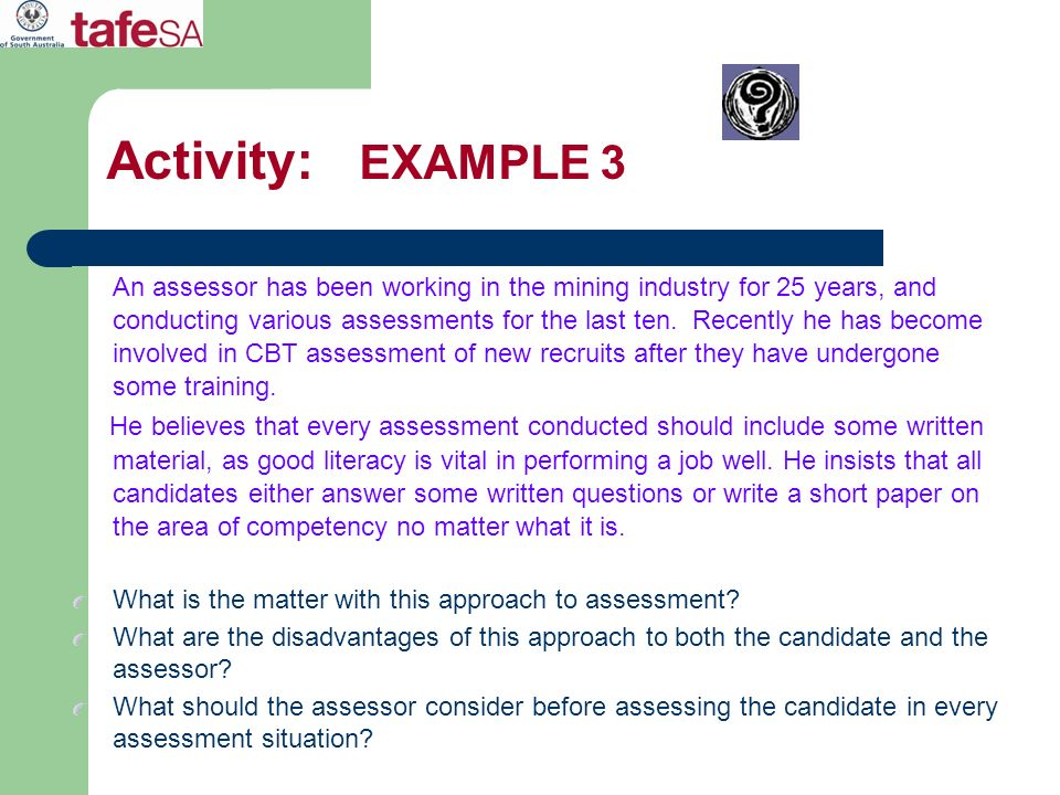 Activity: EXAMPLE 3