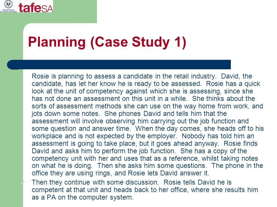 Planning (Case Study 1)