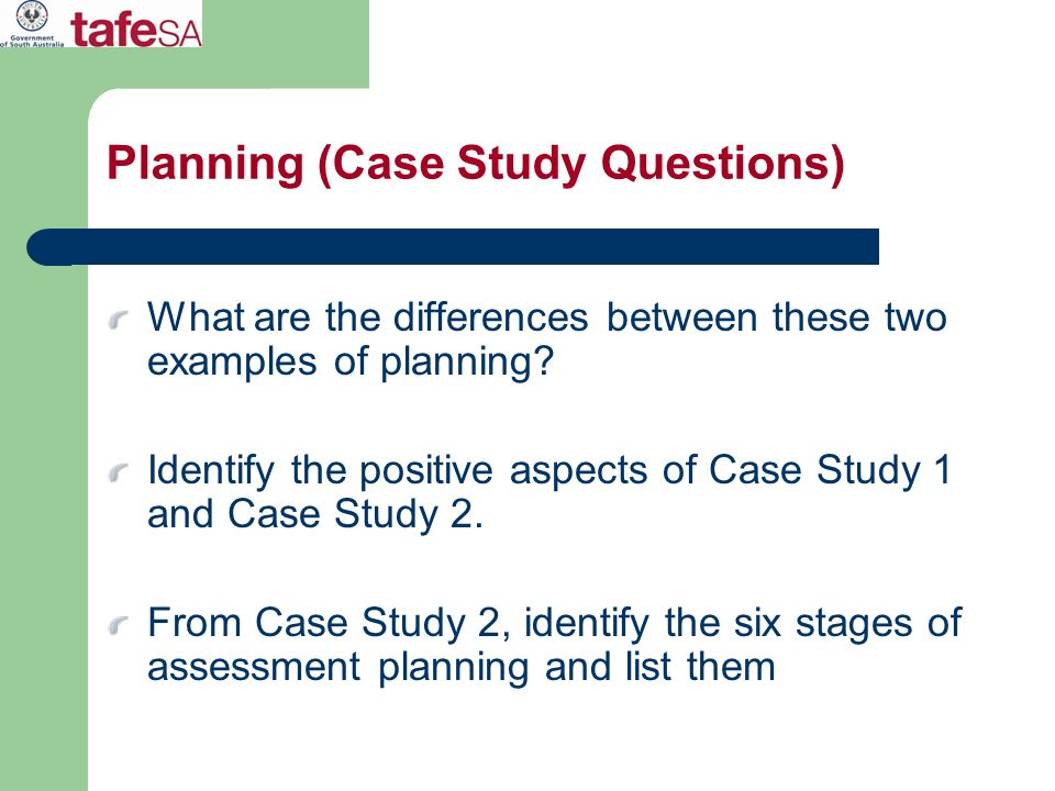 Planning (Case Study Questions)