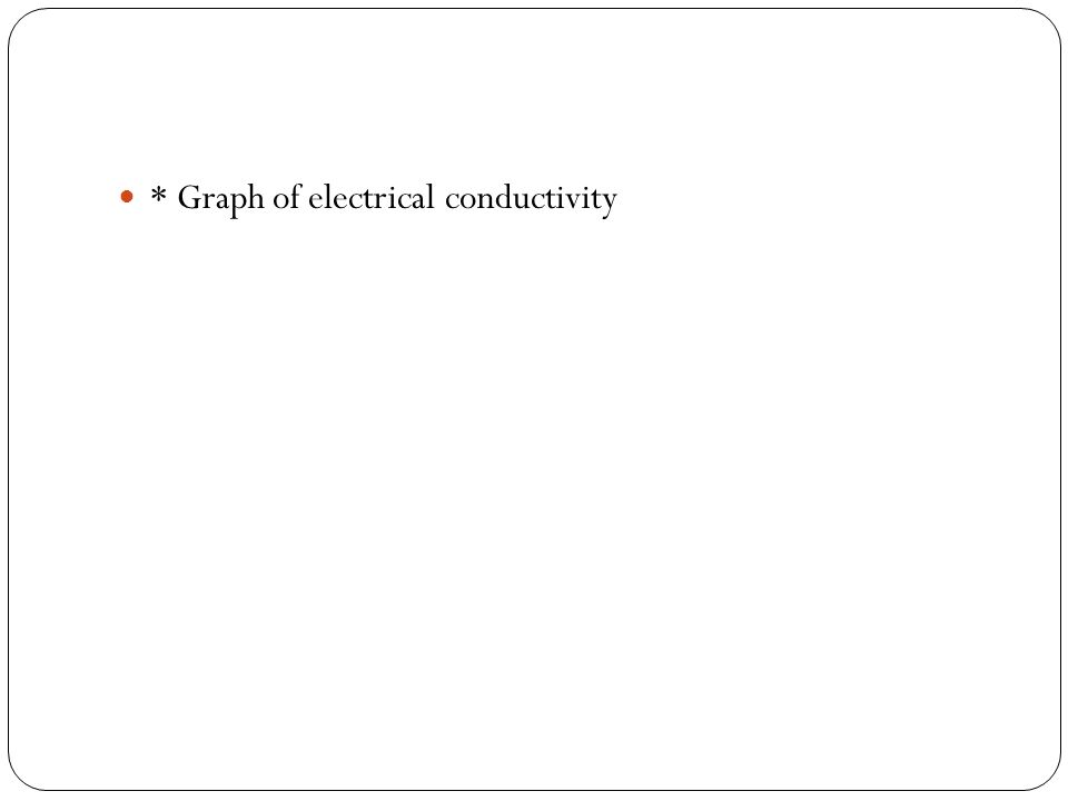 * Graph of electrical conductivity