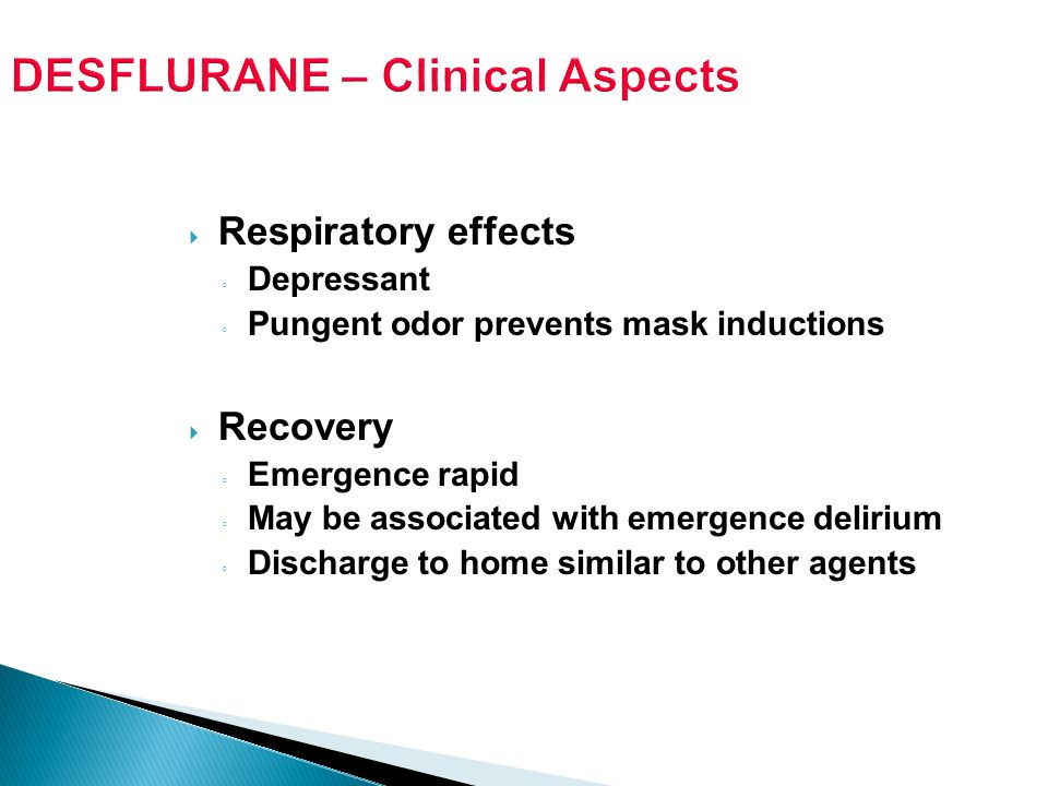 DESFLURANE – Clinical Aspects