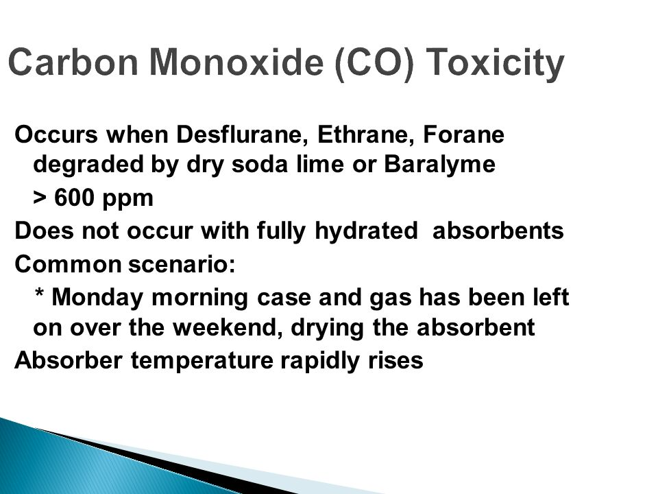 Carbon Monoxide (CO) Toxicity