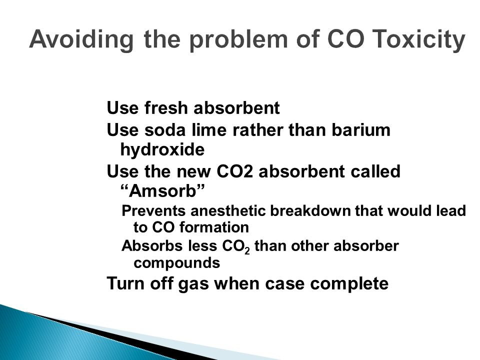 Avoiding the problem of CO Toxicity