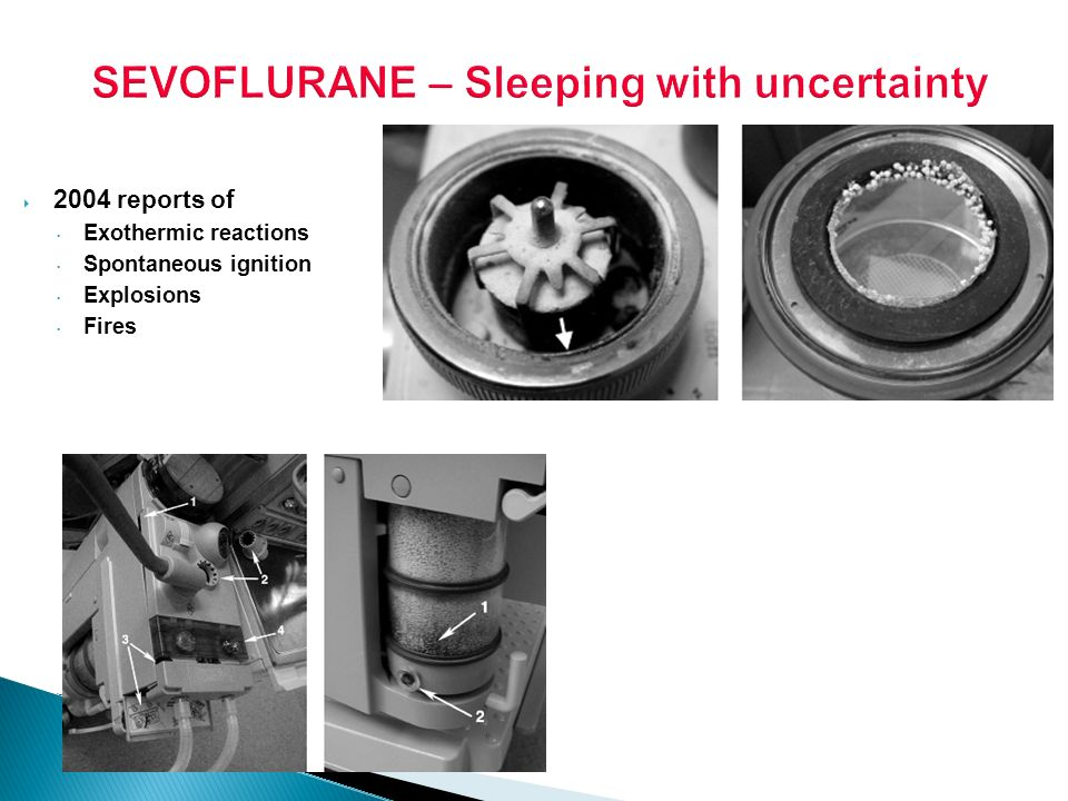 SEVOFLURANE – Sleeping with uncertainty