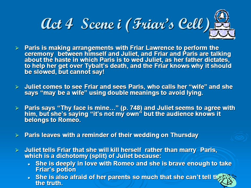 Act 4 Scene i (Friar's Cell)