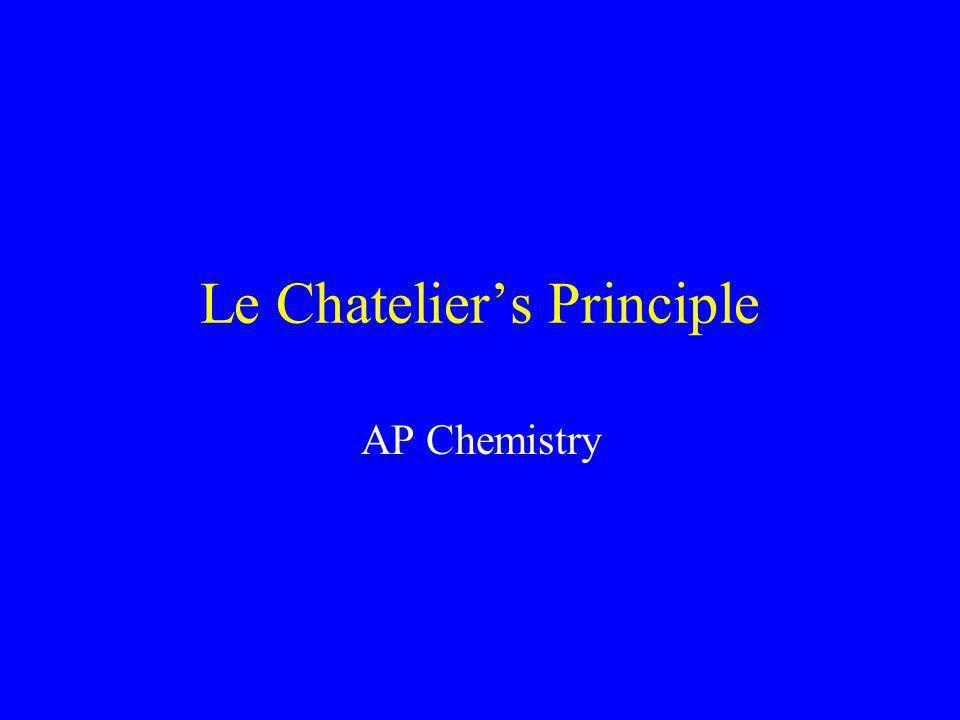 le chatelier s principle lab report