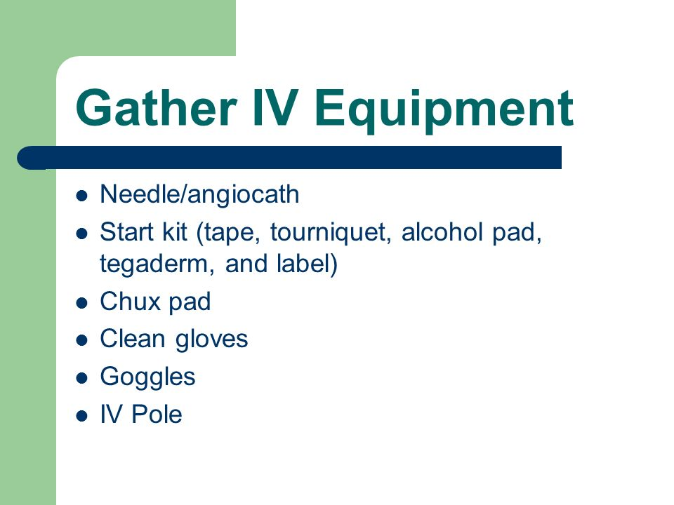 Gather IV Equipment Needle/angiocath