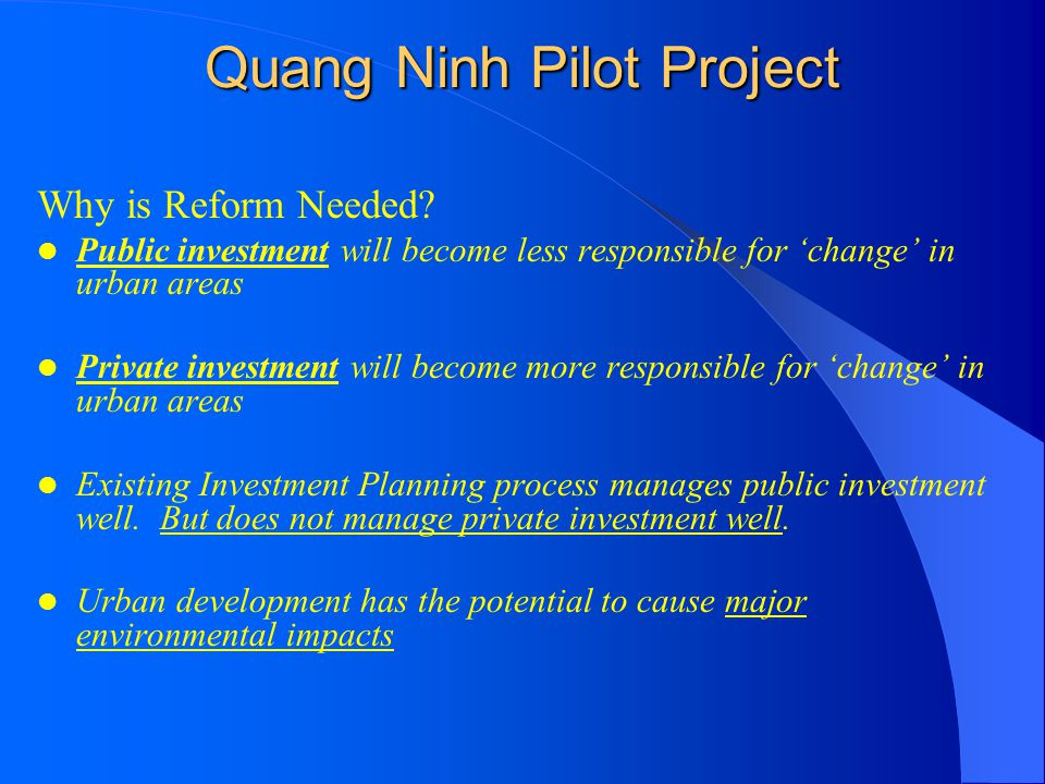 Quang Ninh Pilot Project