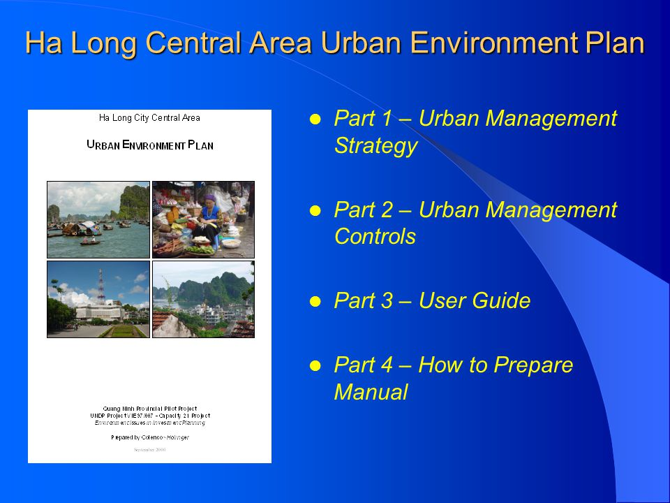Ha Long Central Area Urban Environment Plan