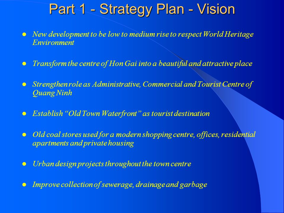 Part 1 - Strategy Plan - Vision