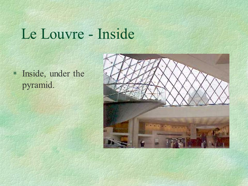 Le Louvre - Inside Inside, under the pyramid.
