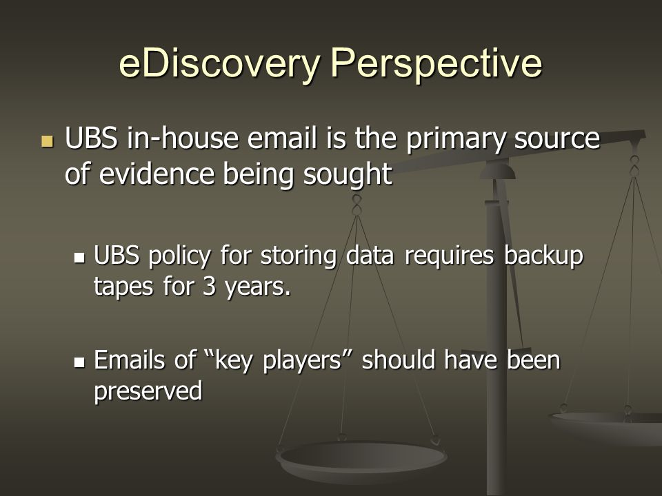 eDiscovery Perspective