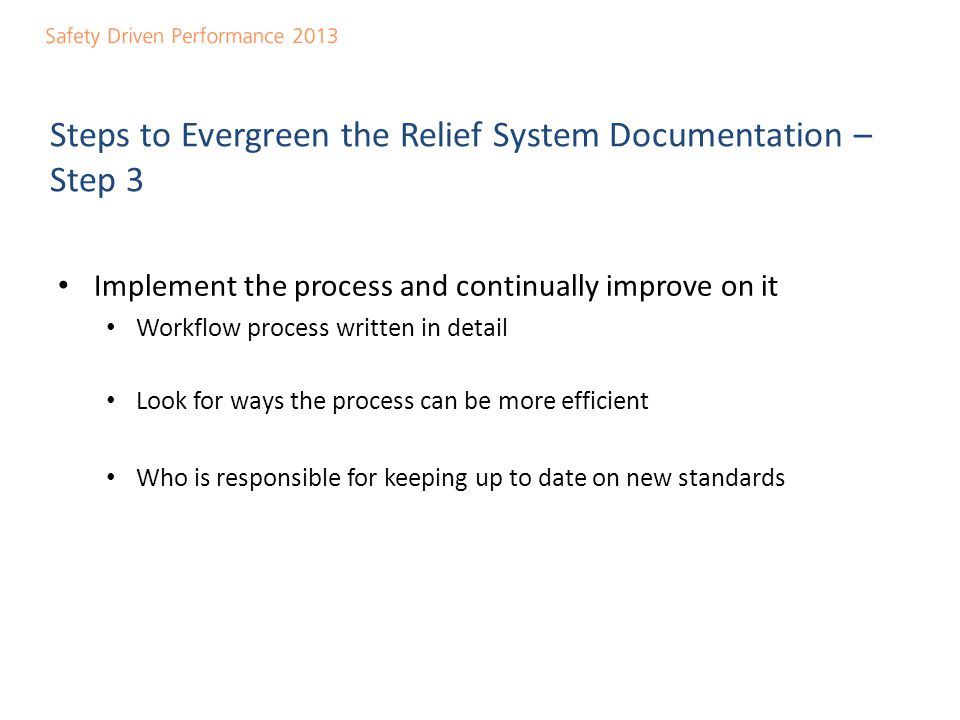 Steps to Evergreen the Relief System Documentation – Step 3