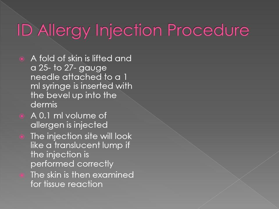 ID Allergy Injection Procedure