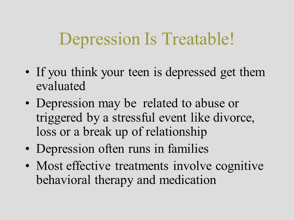 Depression Is Treatable!