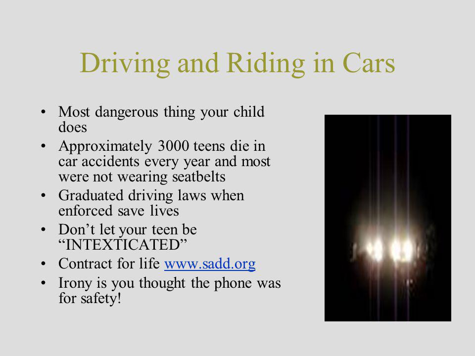 Driving and Riding in Cars