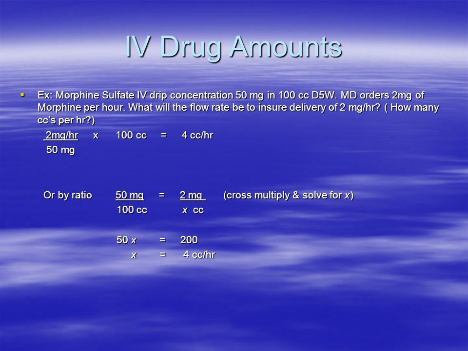 IV Drug Amounts