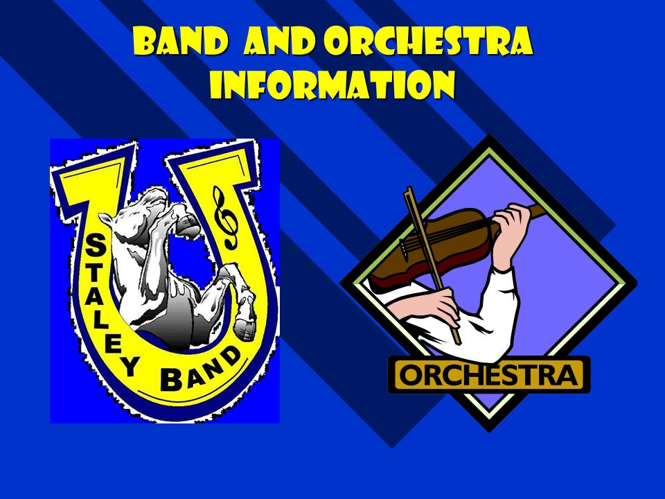 Band and orchestra Information