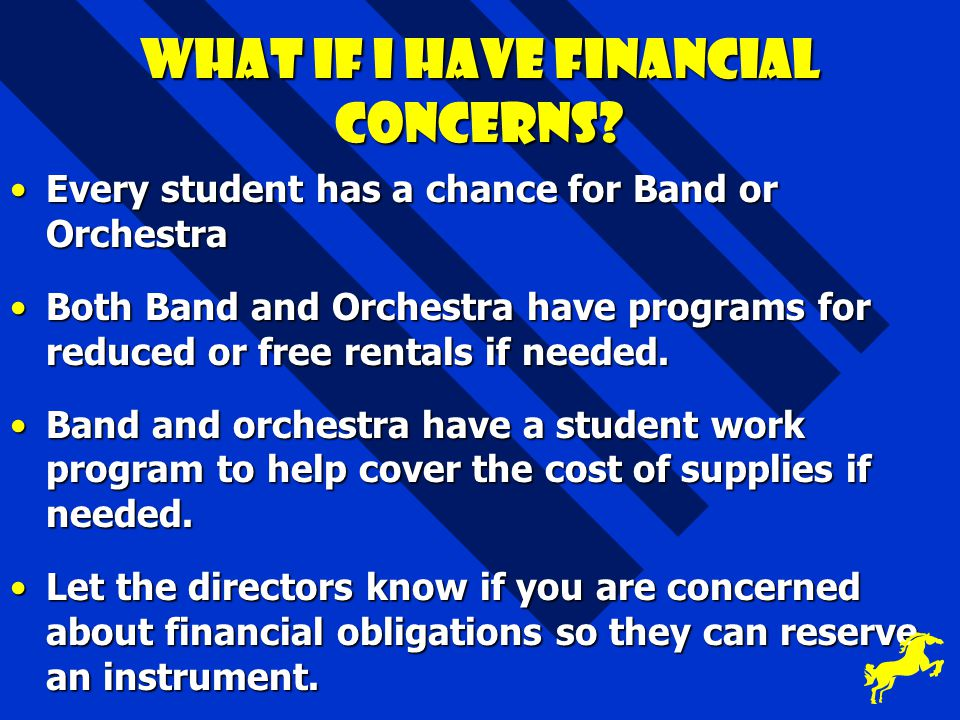 What if I have financial concerns