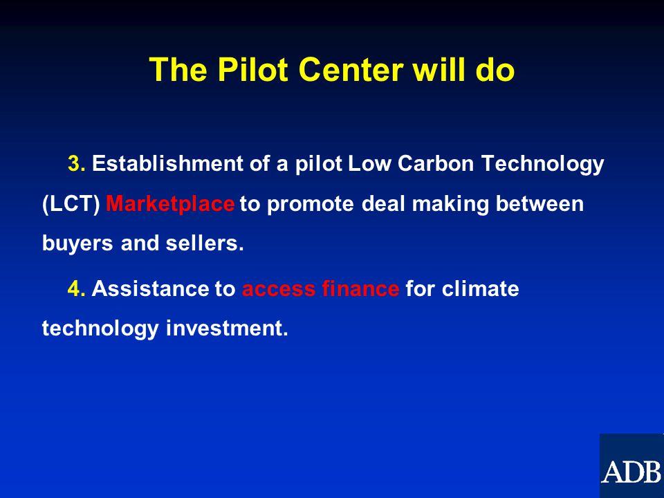 The Pilot Center will do