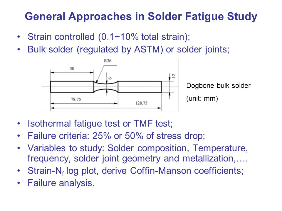 General Approaches in Solder Fatigue Study
