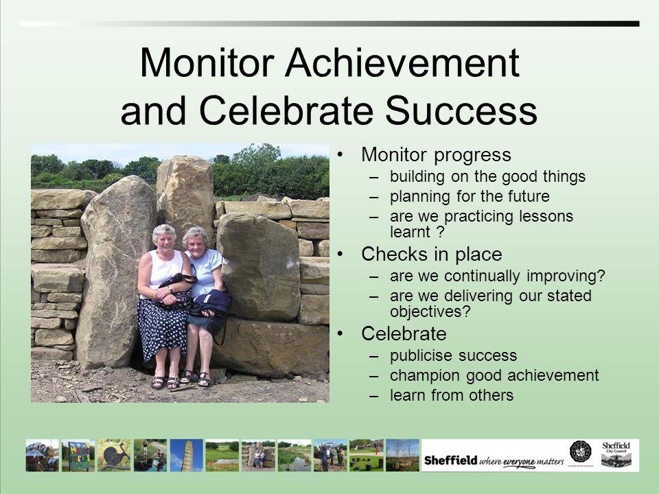 Monitor Achievement and Celebrate Success