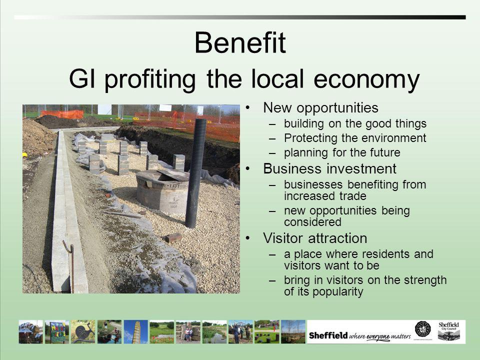 Benefit GI profiting the local economy