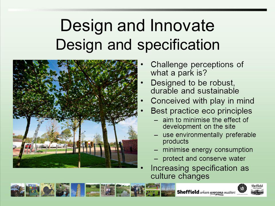 Design and Innovate Design and specification