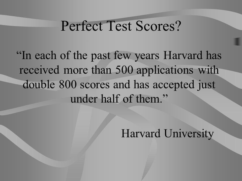 Perfect Test Scores