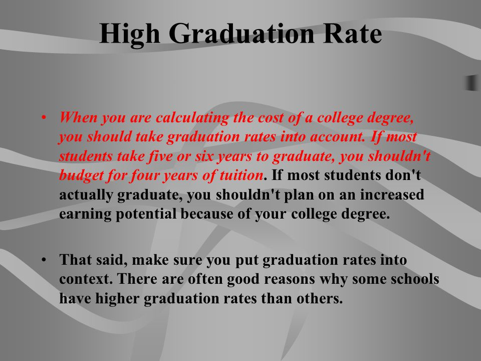 High Graduation Rate