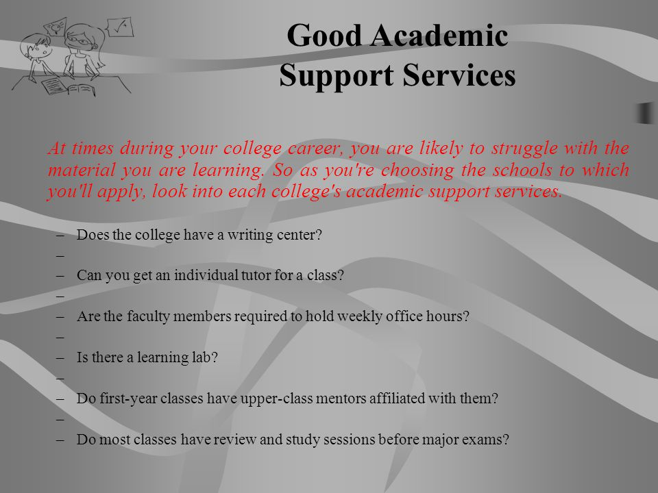 Good Academic Support Services