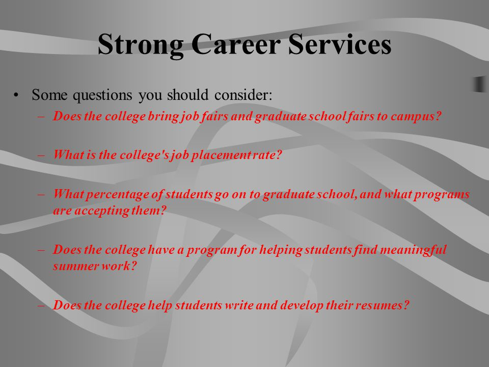 Strong Career Services