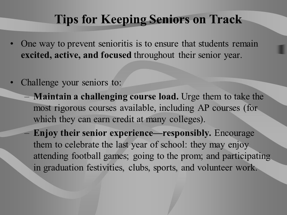 Tips for Keeping Seniors on Track