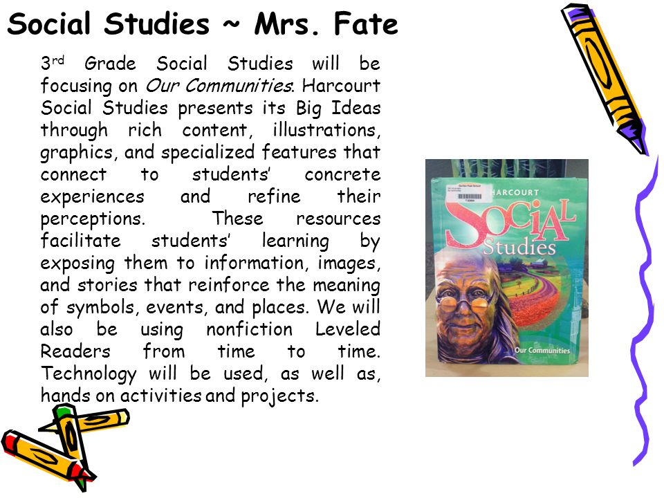 Social Studies ~ Mrs. Fate