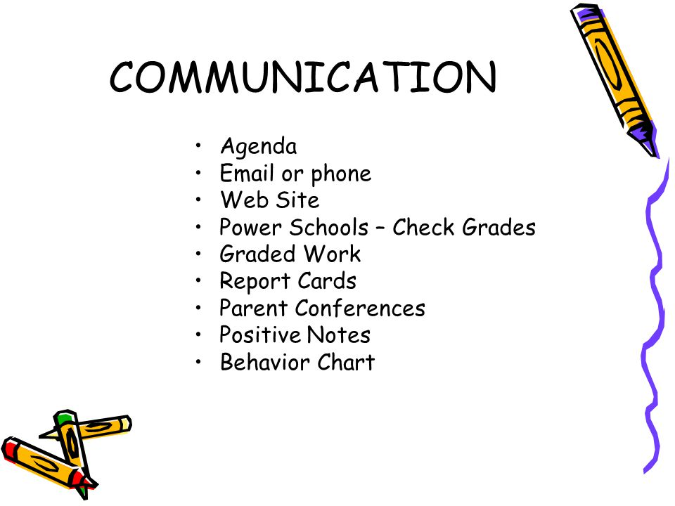 COMMUNICATION Agenda Email or phone Web Site