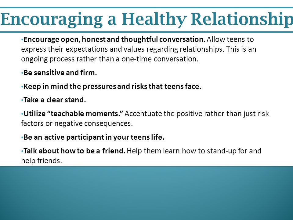 Encouraging a Healthy Relationship