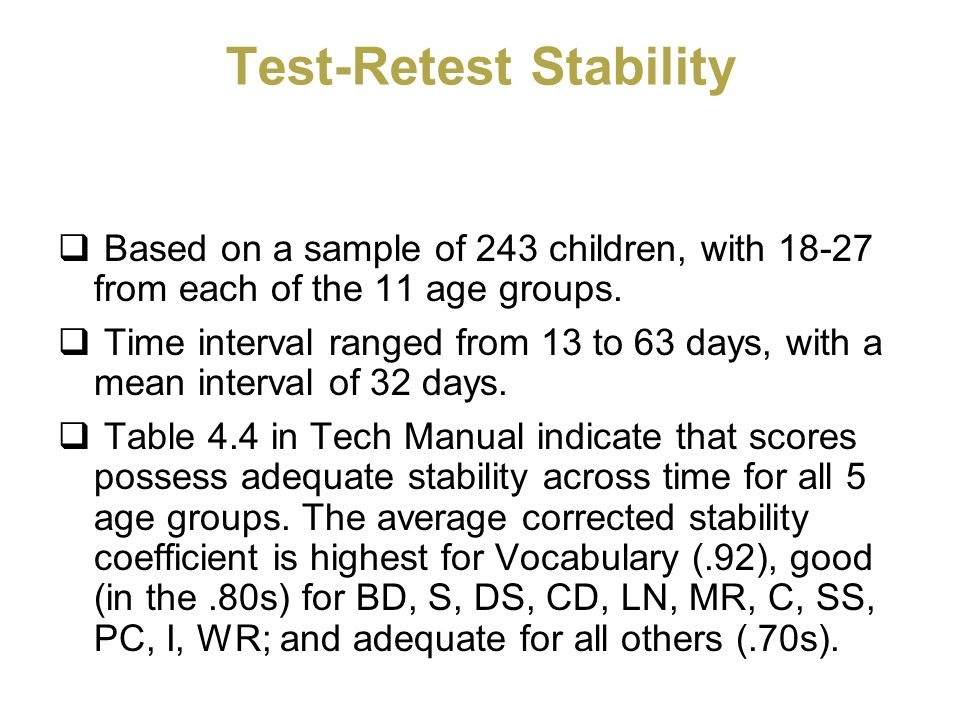 Test-Retest Stability