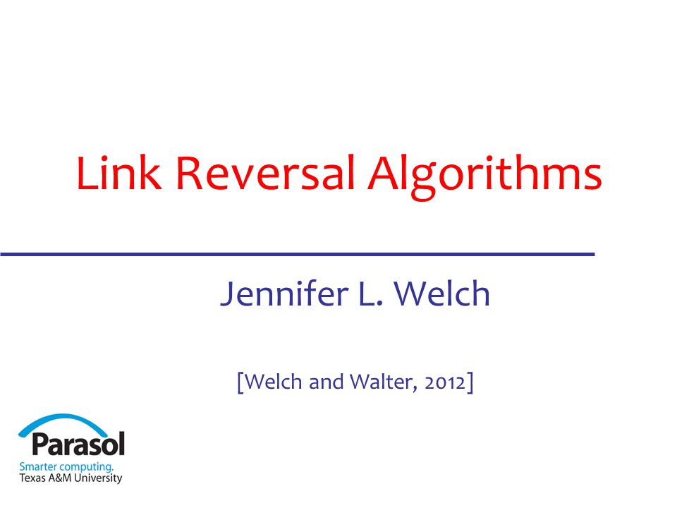 What is Link Reversal Distributed algorithm design technique