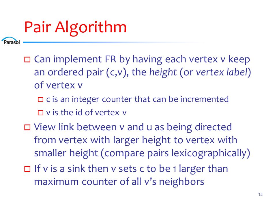 Pair Algorithm Example