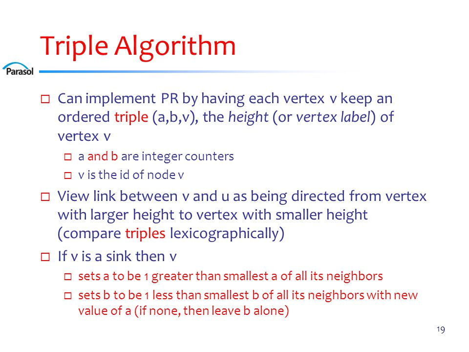 Triple Algorithm Example