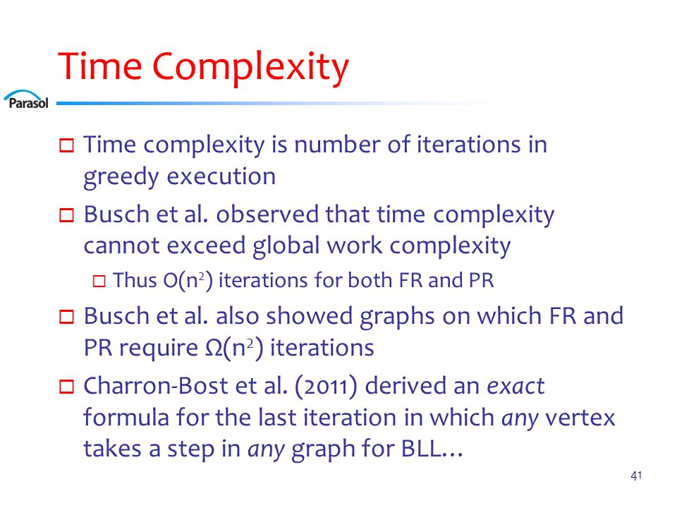 FR Time Complexity Overview