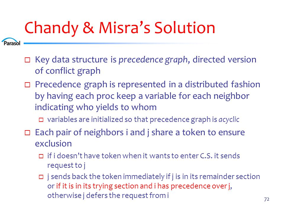 Chandy & Misra's Solution