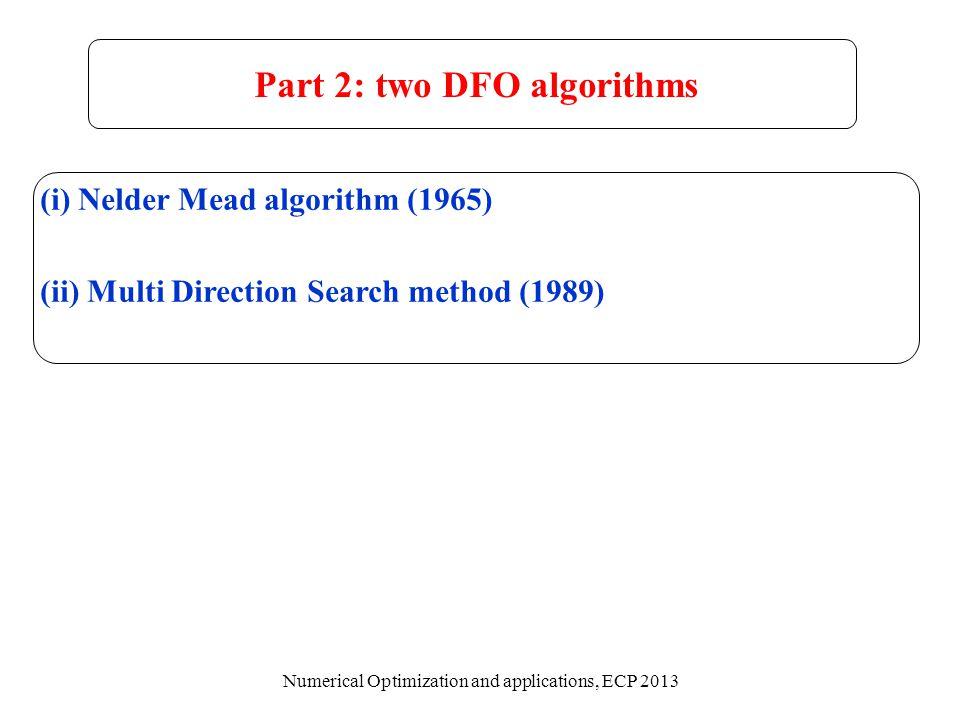Part 2: two DFO algorithms