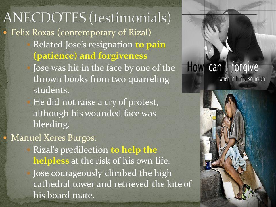 ANECDOTES (testimonials)