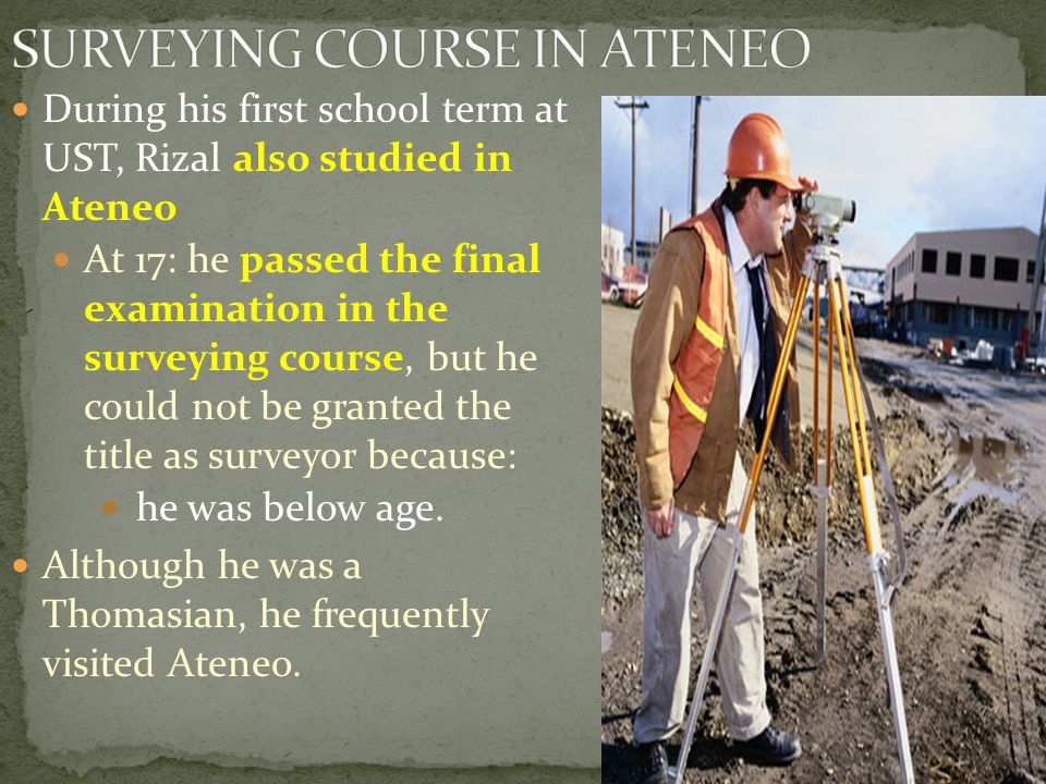 SURVEYING COURSE IN ATENEO