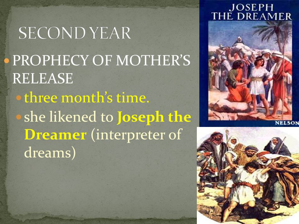 SECOND YEAR PROPHECY OF MOTHER'S RELEASE three month's time.